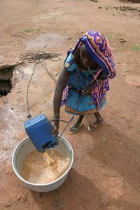 girl with unsafe drinking water