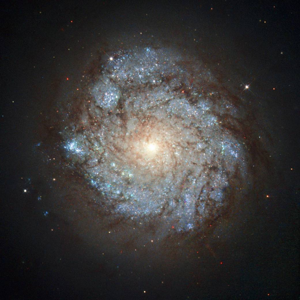 This image, taken by the NASA/ESA Hubble Space Telescope's Wide Field Planetary Camera 2, shows a spiral galaxy named NGC 278. This cosmic beauty lies some 38 million light-years away in the northern constellation of Cassiopeia (The Seated Queen).